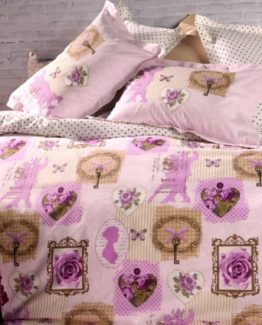 Soley double  Ranforce Duvet Cover Set - Ariana Lila