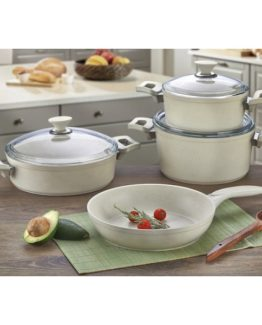 Remetta 7 Pieces Granit pot Set Soft Krem