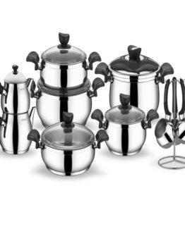 Schafer 18 Pieces Alia Steel Dowry set Smoked