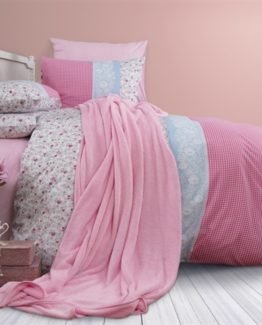 Soley Welsoft Blanketli Duvet Cover Set  Cari Pink