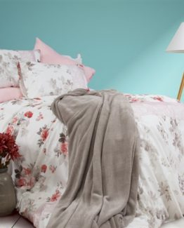 Soley Welsoft Blanketli Duvet Cover Set  Pomegranateigold Pudra