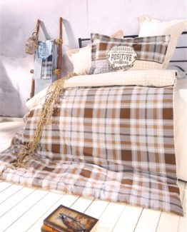 Soley Single Ranforce Duvet Cover Set  - İbiza brouwn