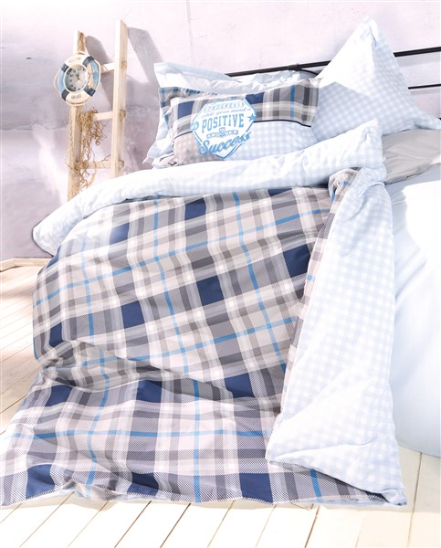 Soley Single Ranforce Duvet Cover Set  - İbiza Blue