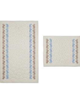 Minteks Colored  Cotton 2`li Closet Set -Olimpos brouwn-Turkuaz