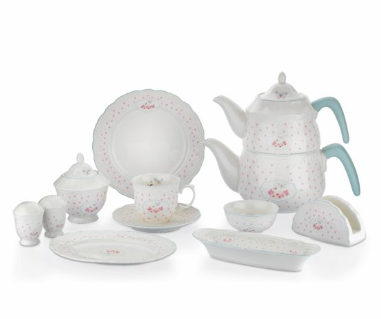 Schafer 34 Pieces Moin Breakfast Set Blue01