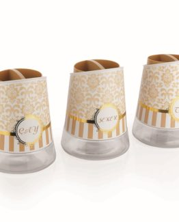 Schafer 3 Pieces Nesting Jar set Gold 25805