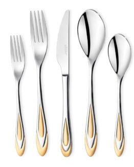 Schafer 90 Pieces Gold fork Spoon Knife Set (910G)