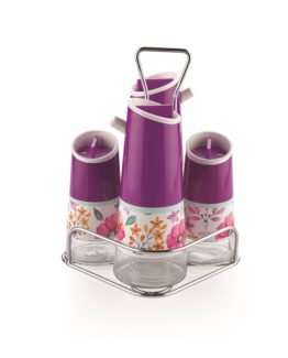 Schafer 5 Pieces Nesting Oil-Vinegar Bottle set Mor (92853)