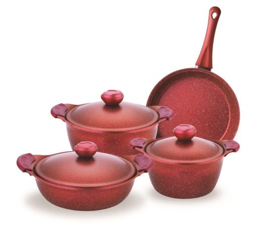 Schafer 7 Pieces Gansberg pot Set (RED)