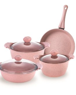 Schafer 7 Pieces Gansberg pot Set (PEMBE)