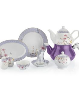 Schafer 31 Pieces In-Glaze Brillant Breakfast set (XXX05)