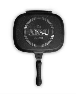 Aksu Extra Granit Double-sided Pan 32 cm Koyu Grey