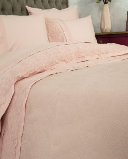 Soley double  Selection the Piquel Duvet Cover Set  Nehir Pudra - Pudra