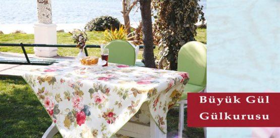 Soley GardenTable set- Big rose rosekurusu