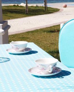 Soley GardenTable set- Puantiyeturquoise