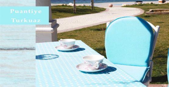 Soley GardenTable set- Puantiyeturquoise
