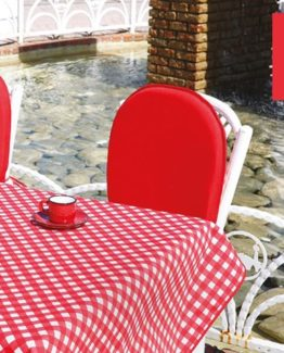 Soley GardenTable set- Ekose red