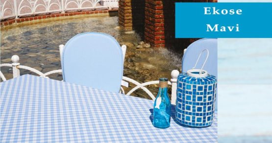 Soley GardenTable set- Ekose Blue