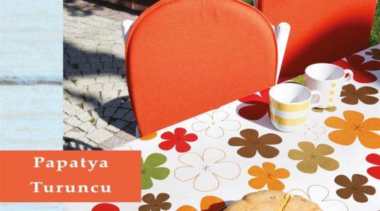 Soley GardenTable set- Papatya Orange