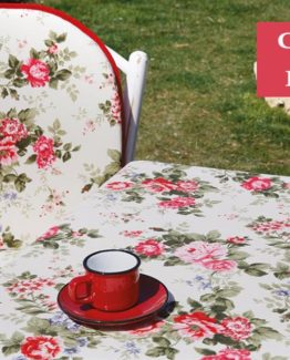 Soley GardenTable set- Middle rose red