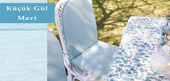 Soley GardenTable set- Small rose Blue