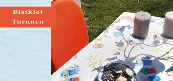 Soley GardenTable set- Bisiklet Orange