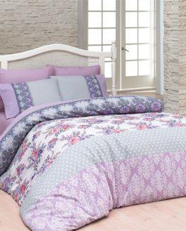 Belenay double  Duvet Cover Set  - Mercan Lila