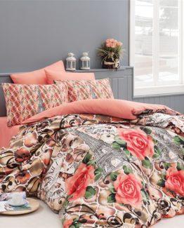 Belenay Single Duvet Cover Set  - Paris Oranj
