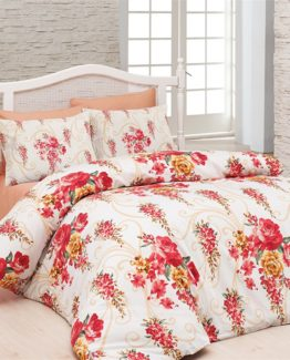 Belenay Single Duvet Cover Set  - Floral red