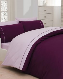 Belenay double  Natura Duvet Cover Set  - Plum