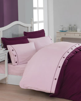 Belenay double  XL Natura Duvet Cover Set  - Plum