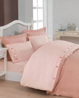 Belenay double  XL Natura Duvet Cover Set  - Pudra