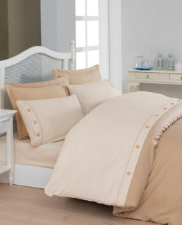 Belenay double  XL Natura Duvet Cover Set  - Cream