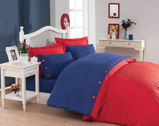 Belenay double  XL Natura Duvet Cover Set  - red
