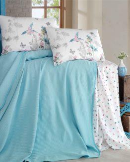 Evim Home double  luxury boxed Pike Set  - Carmelaturquoise