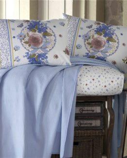 Evim Home Single luxury boxed Pike Set  - Blaze Blue