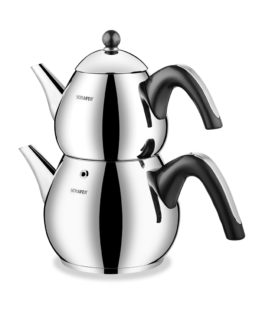 Schafer 4 Pieces Tea Chef Large size Kettles Black