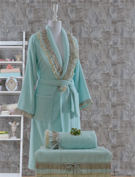 Minteks Romantic Natural Personal Set Alara NilGreeni
