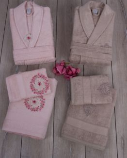 Soley Bamboo 3D Angelica Family set - Pink Bej