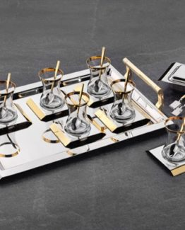 Schafer 40 Pieces Platz Steel Tea set - ALT01