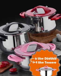 TAÇ Tiktak Bravo 2`li pressure pot Set - Red