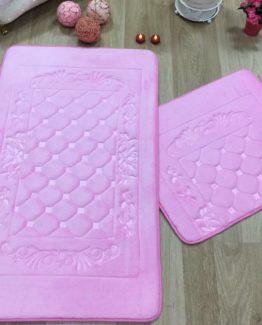 Minteks Hürrem Banyo Paspası 2`li Takım - Pink