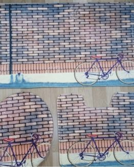 Minteks Banyo Paspası 3`lü Takım - Stone Bike