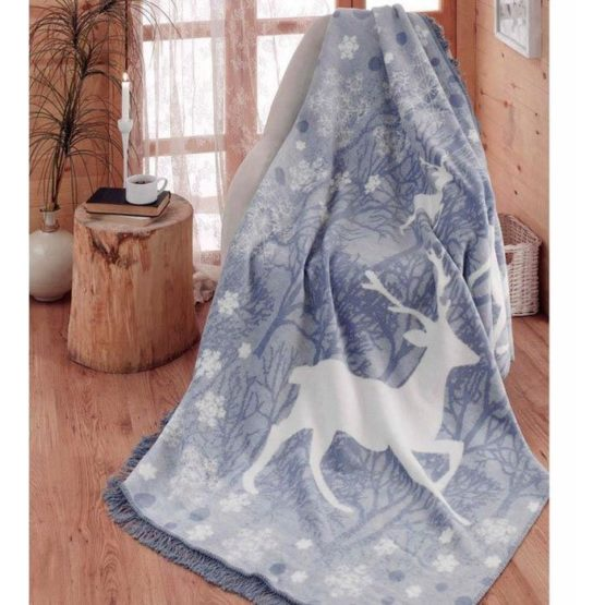 Aksu Cotton Blanket 150x200 boxed - Ruby