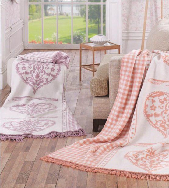 Aksu Cotton Blanket 180x220 boxed - Berilla Pink