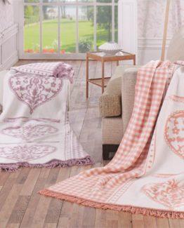 Merinos Cotton Blanket 150x200 boxed - Berilla Lila