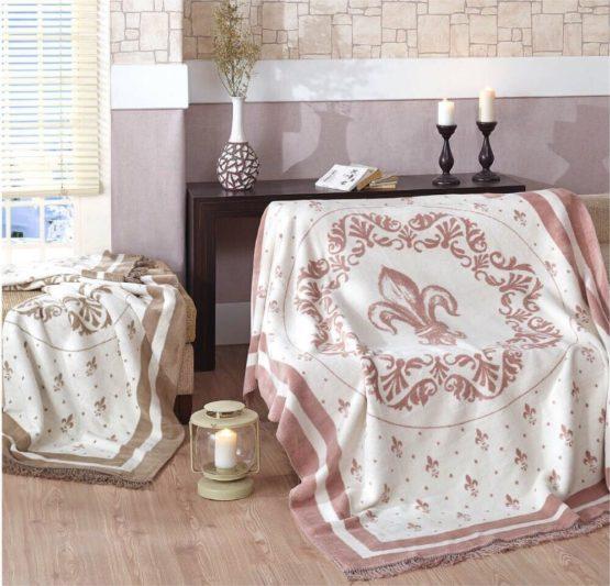 Merinos Cotton Blanket 150x200 boxed - Pia Plum
