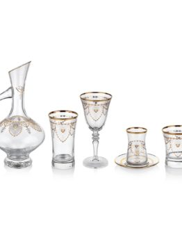 Schafer 61 Pieces Swan Glass set - GLD08