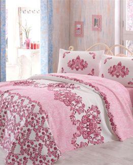 Minteks double  Duvet Cover Set  - Hüma Pink