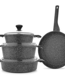 Schafer Asteria 7 Pieces Granit pot Set - SİY01